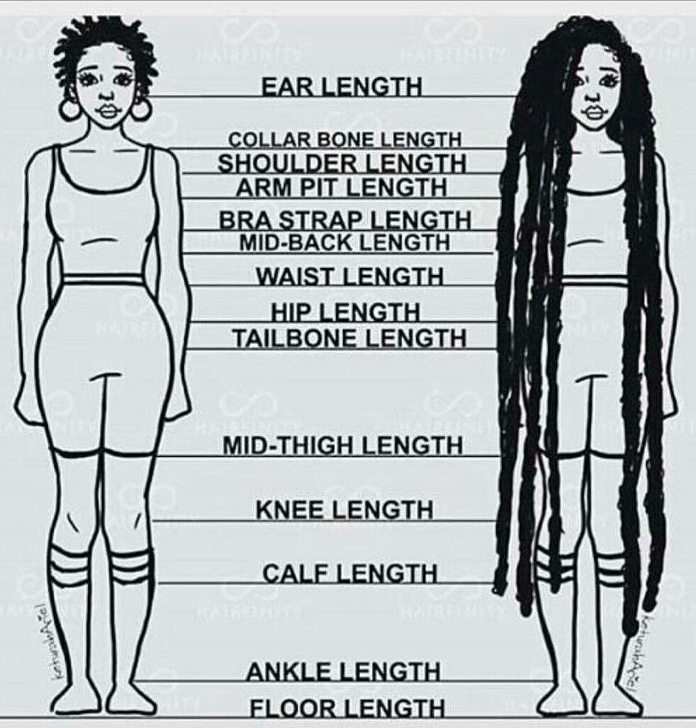 Hair length chart my kinky hair love affair hair care tips hair length chart nvjuhfo Images