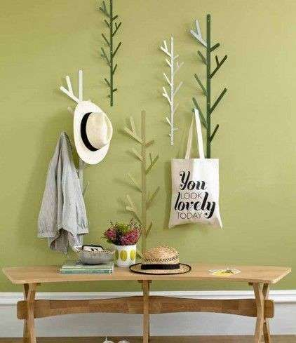 Appendiabiti a muro moderni nel 2019 | Casa | Green wall decor, Home ...