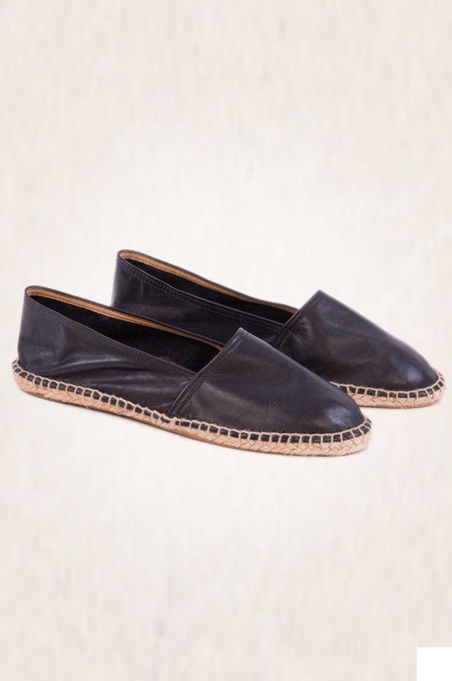 classic leather espadrilles