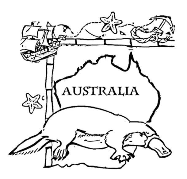 Australia Day Animal Coloring Page | Australia day | Pinterest