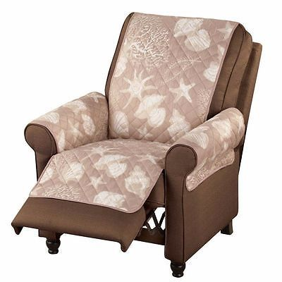 Recliner Chair Arm Covers Brown Lazy Boy Furniture Protector Modern Slipcover Us
