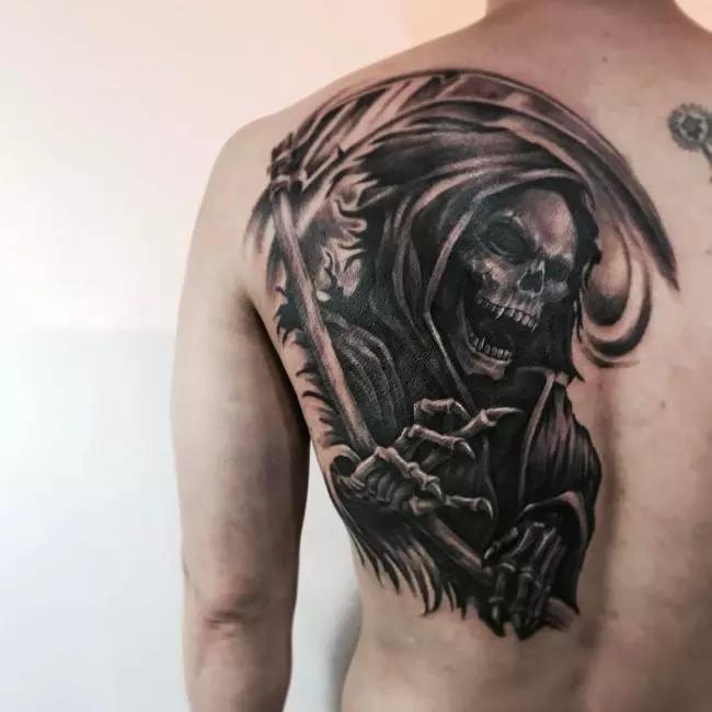 95 Best Grim Reaper Tattoo Designs Meanings 2019 Grim Reaper Tattoo Reaper Tattoo Death Tattoo