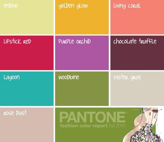 Pantone Fall 2010 Color Trend