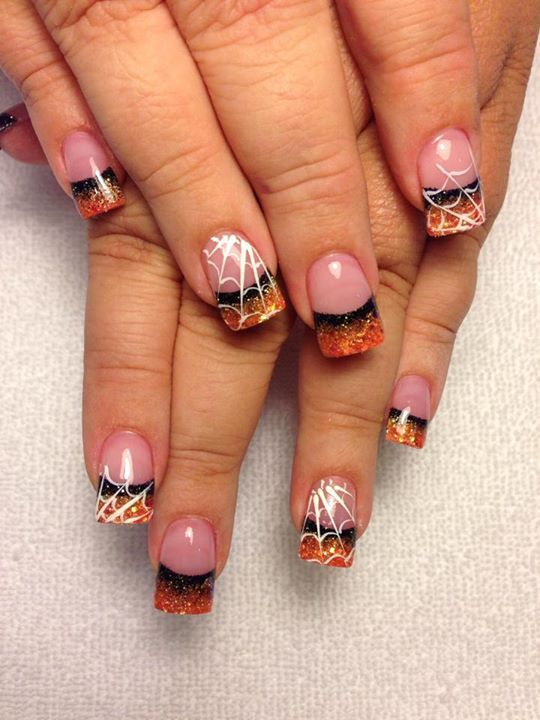 Cute :)) | Halloween acrylic nails, Autumn nails ...