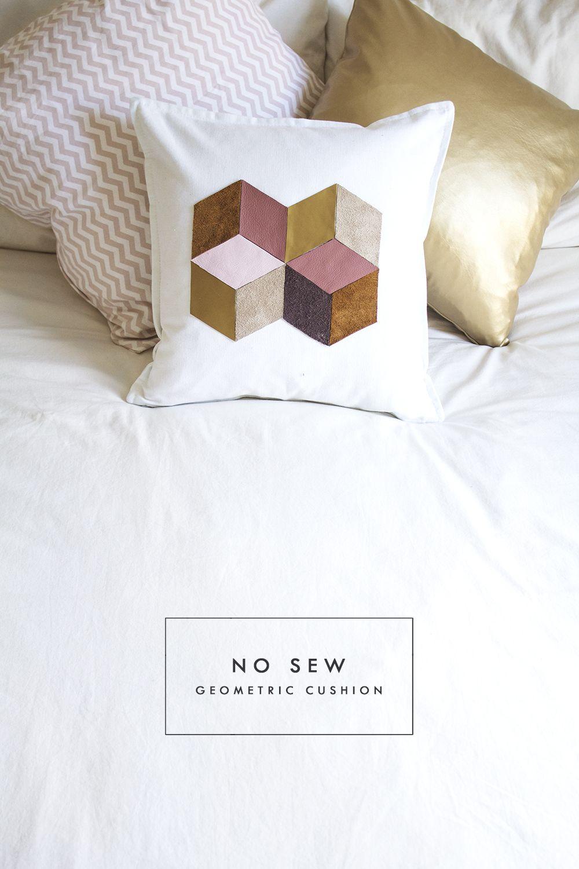 Diy geometric cushion home ideas pinterest geometric cushions