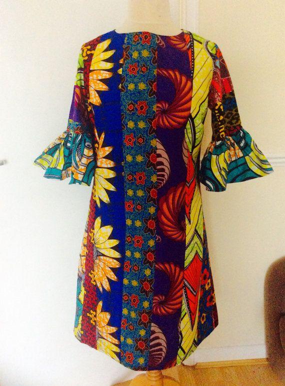 Ankara Dress Patchwork Dress Womens Wear A Line Dressmulti