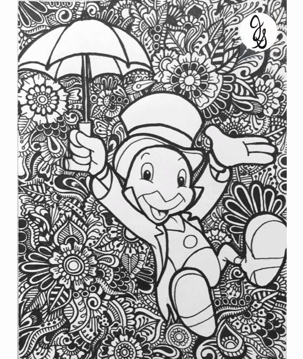 Disney Coloring Book for Adults Lovely Jiminy Cricket
