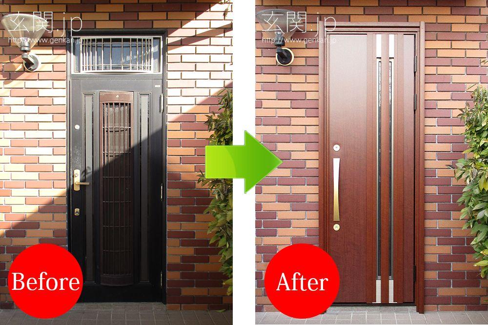 三井ホームで建てたれた玄関ドアのリフォーム施工例 玄関ドア ドア 三井ホーム