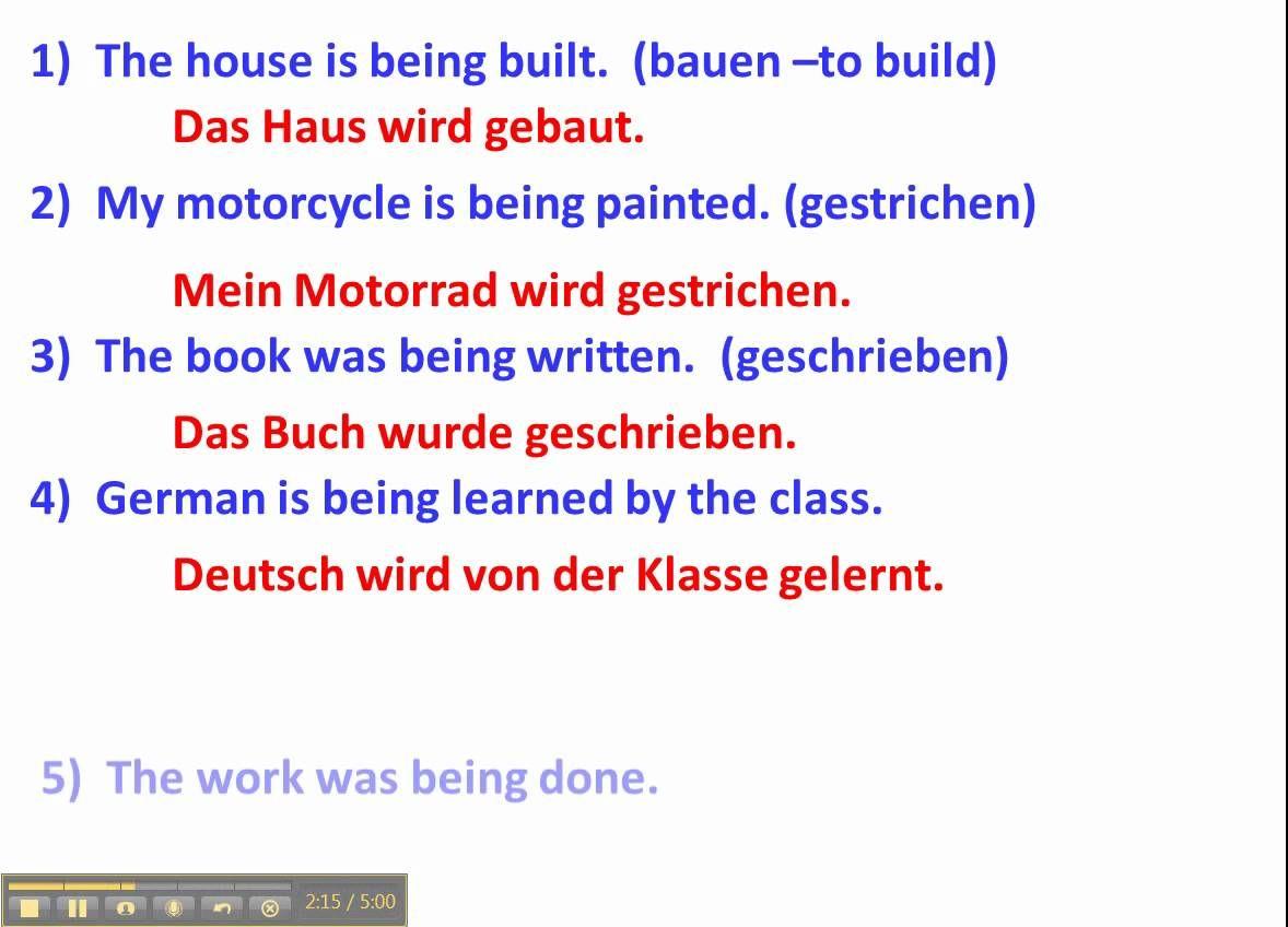 Understanding The Passive Voice In German With Examples