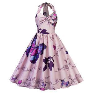 038906ebd293 Womens-Vintage-1950s-Polka-Dot-Rockabilly-Evening-Prom-Swing-Dress-Plus-Size
