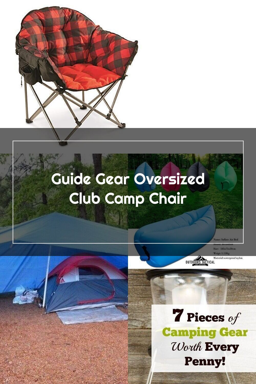 Guide Gear Oversized Club Camp Chair, 500lb. Capacity