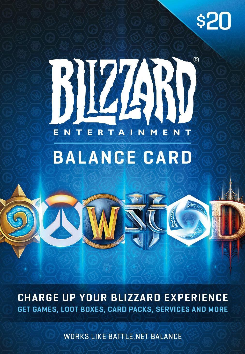 Amazon com: $20 Battle net Store Gift Card Balance