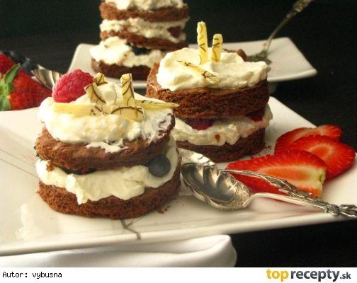Tortičky s mascarpónovým krémom ako dezert