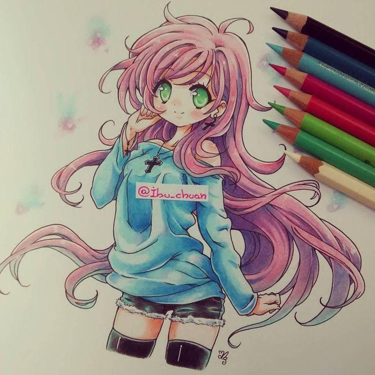 Encantador Lindo Chibi Para Colorear Foto - Dibujos Para Colorear En ...