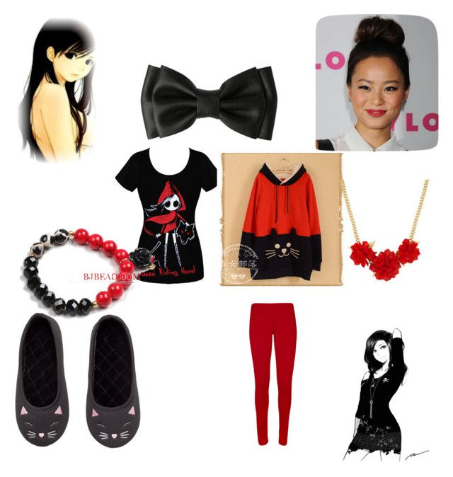 rosy [school] by kawaiibunly on Polyvore featuring Moriville, WearAll, H&M and Betty Jackson