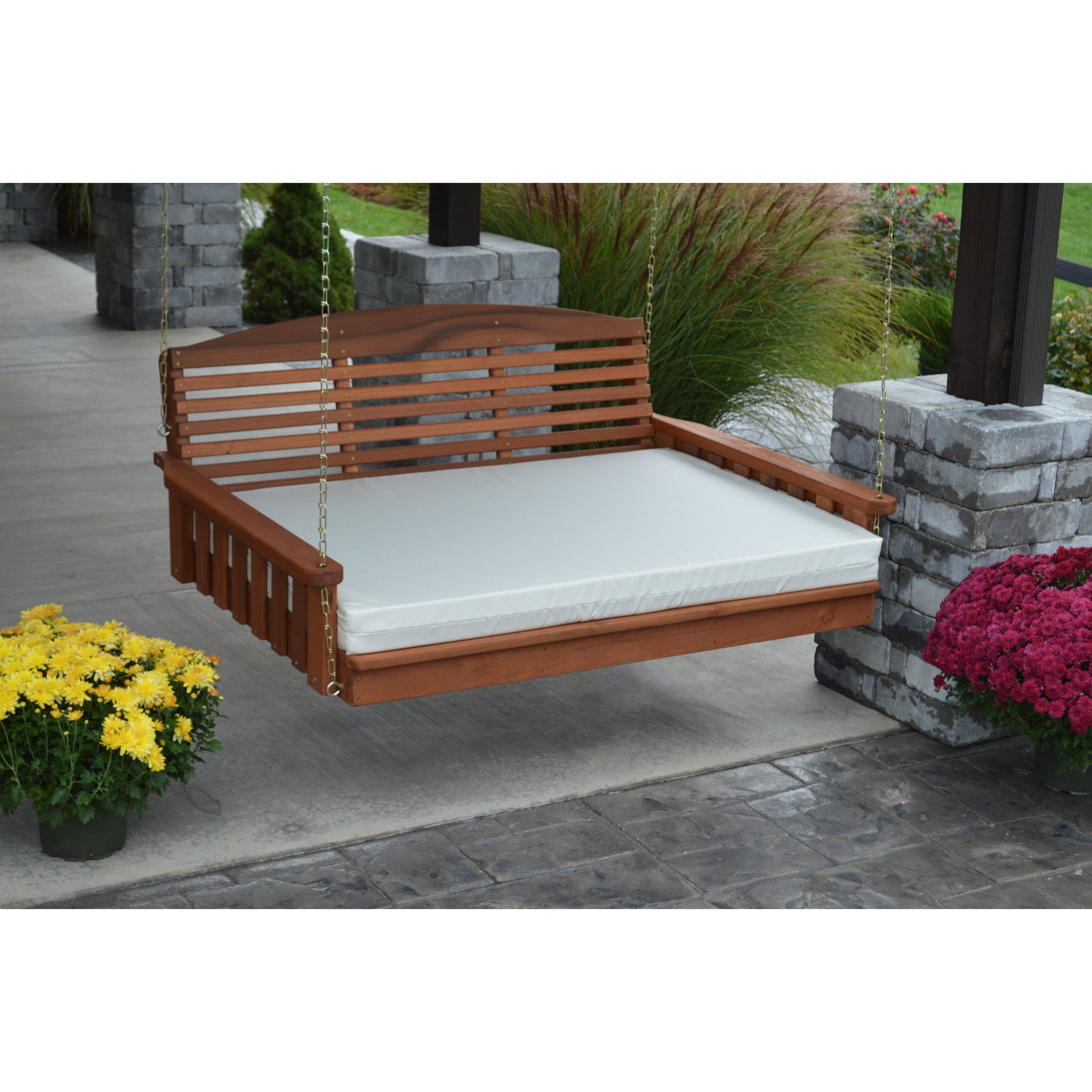 A & L Furniture Sundown Agora 4 ft. Swing Bed Cushion