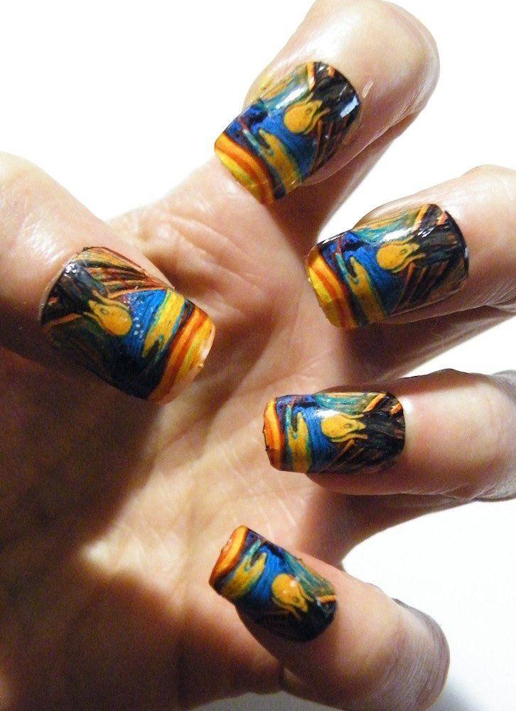 Mani Pedi Munch The Scream Nail Polish Art Nails Art History ...