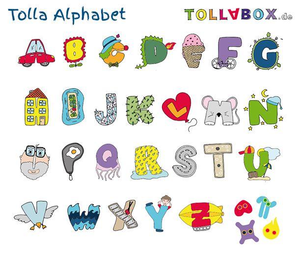 Das tolla alphabet zum ausdrucken ausmalen aufh ngen alphabet pinterest ausdrucken - Kinderzimmer buchstaben ...