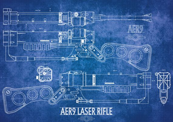 A hand drawn digital schematic of the laser rifle in the fallout a hand drawn digital schematic of the laser rifle in the fallout universe it is malvernweather Image collections
