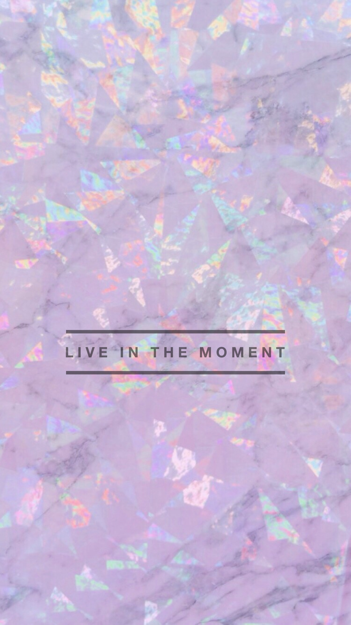 Live In The Moment Marble Iridescent Wallpaper Background IPhone Android HD