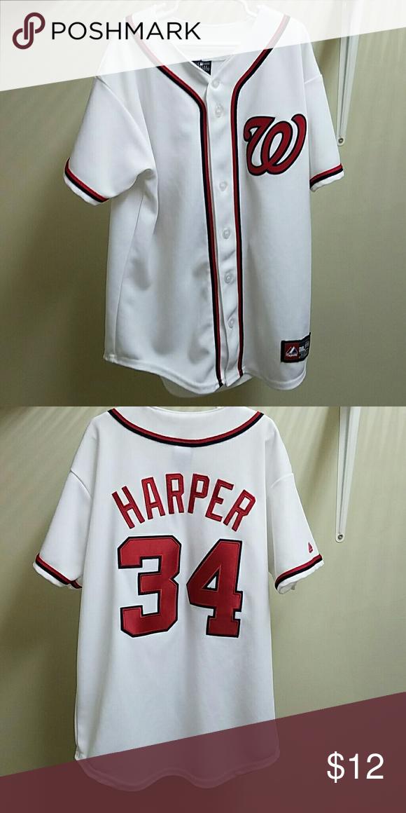 e3dd5c98 Boy's Washington Nationals Baseball Jersey Bryce Harper #34 Majestic Shirts  & Tops