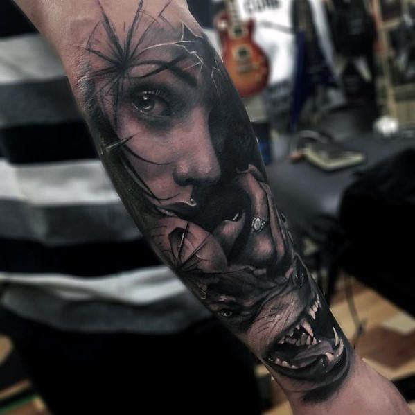 22 growling wolf tattoo ideas