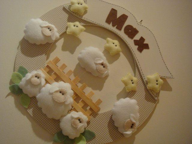 Enfeite de Porta Ovelhas   por Paula Futema