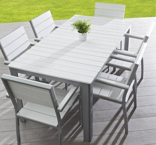 Découvrez le charme du #salon de jardin NEVADA en #bois peint blanc ...