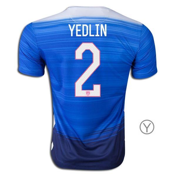 68cfec320 ... 2015 DeAndre Yedlin Youth Away Jersey 2 USA Soccer Blue Away Michael  Bradley Nike Womens 20152016 Authentic ...