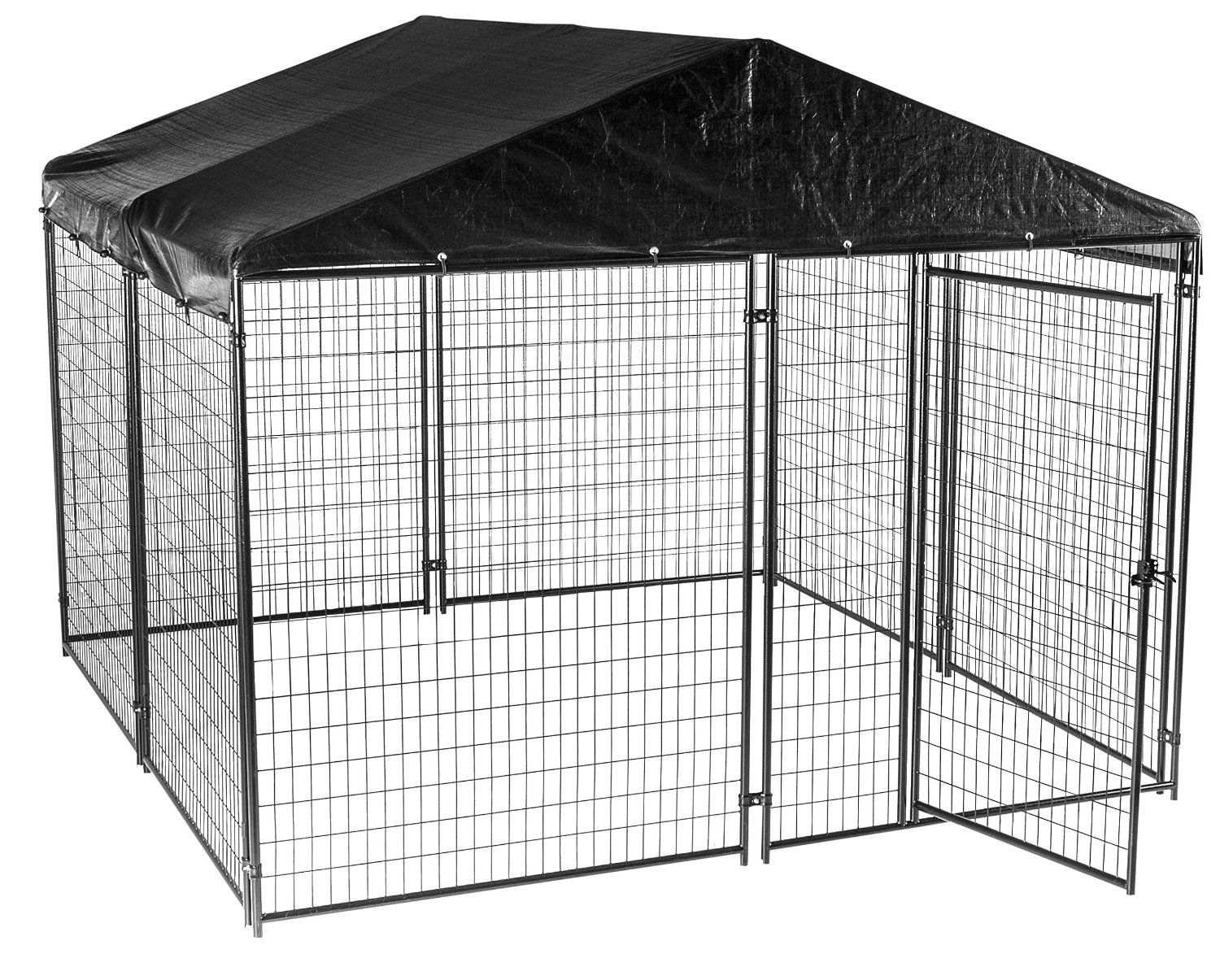 Dog Kennel with Waterproof Cover- Lucky Dog Modular Box Kennel ...