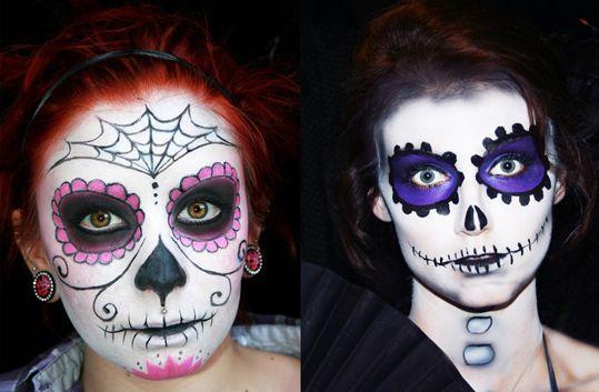 pintura halloween rosto - Pesquisa Google | IDEIAS CREATIVAS ...