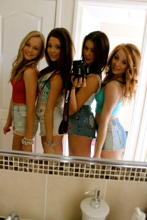 Teen Friends In Short Shorts