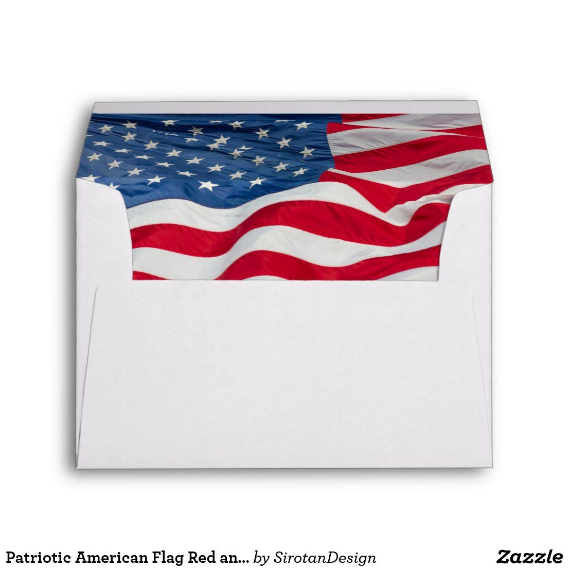 Patriotic American Flag Red And Blue Stripes Stars Envelope Zazzle Com In 2020 Red And Blue Blue Stripes American Flag
