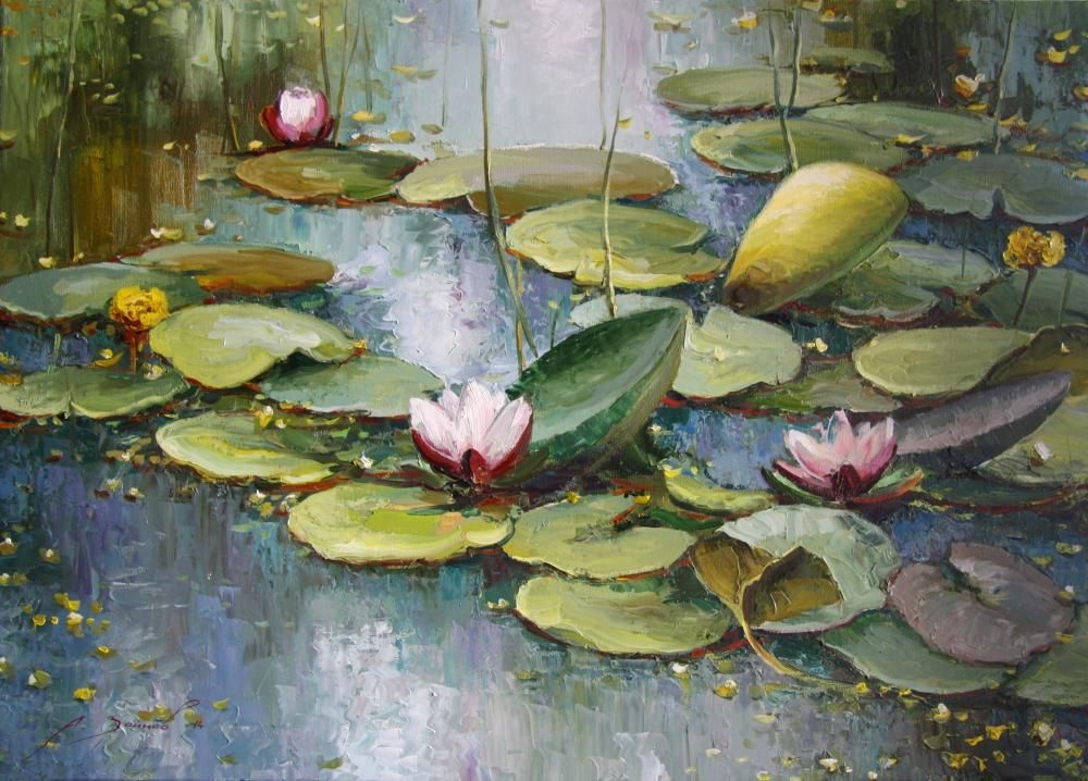 Картина пруд с лилиями художник