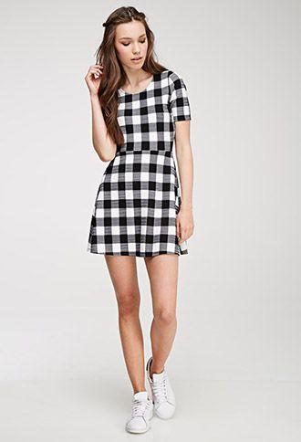 Gingham Print A-Line Dress | Forever 21 Canada