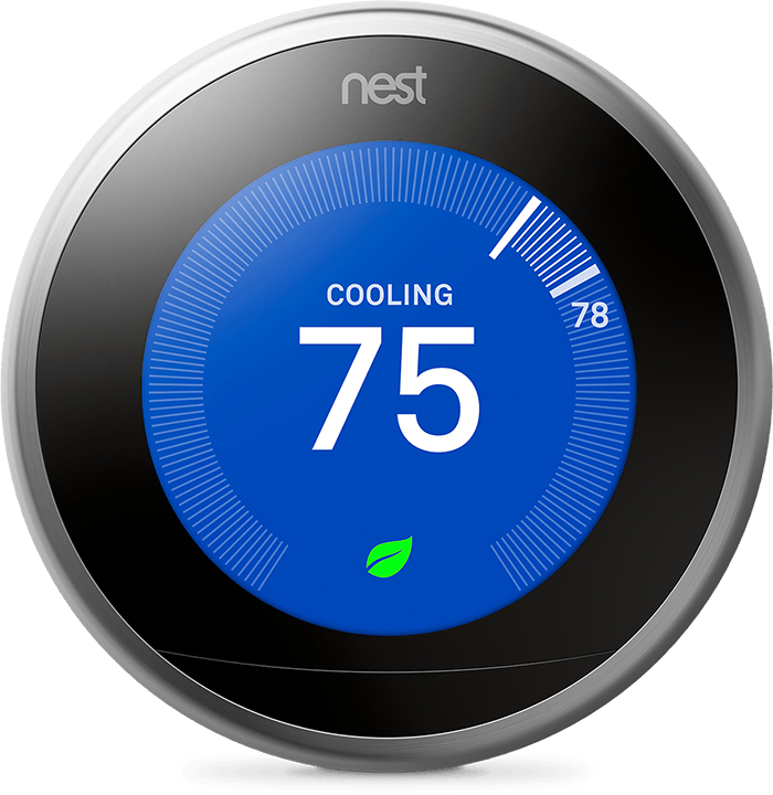 Hey Google, set the temperature to 75 degrees Nest