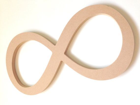 Unfinished Wooden Decor Infinity Sign Symbol By Allyscustomart 15 00unfinished