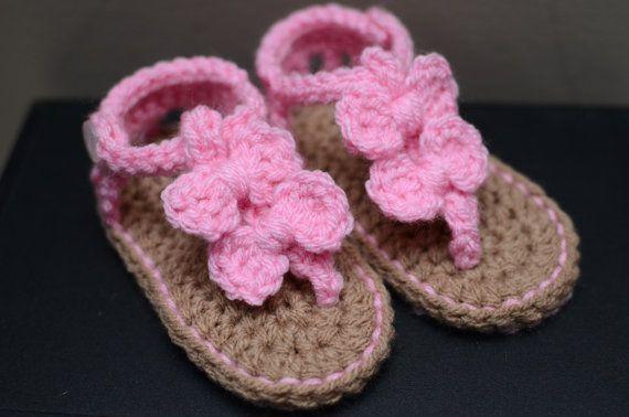 Häkeln Sie Baby Sandalen Baby Mädchen Sandalen Häkeln Baby