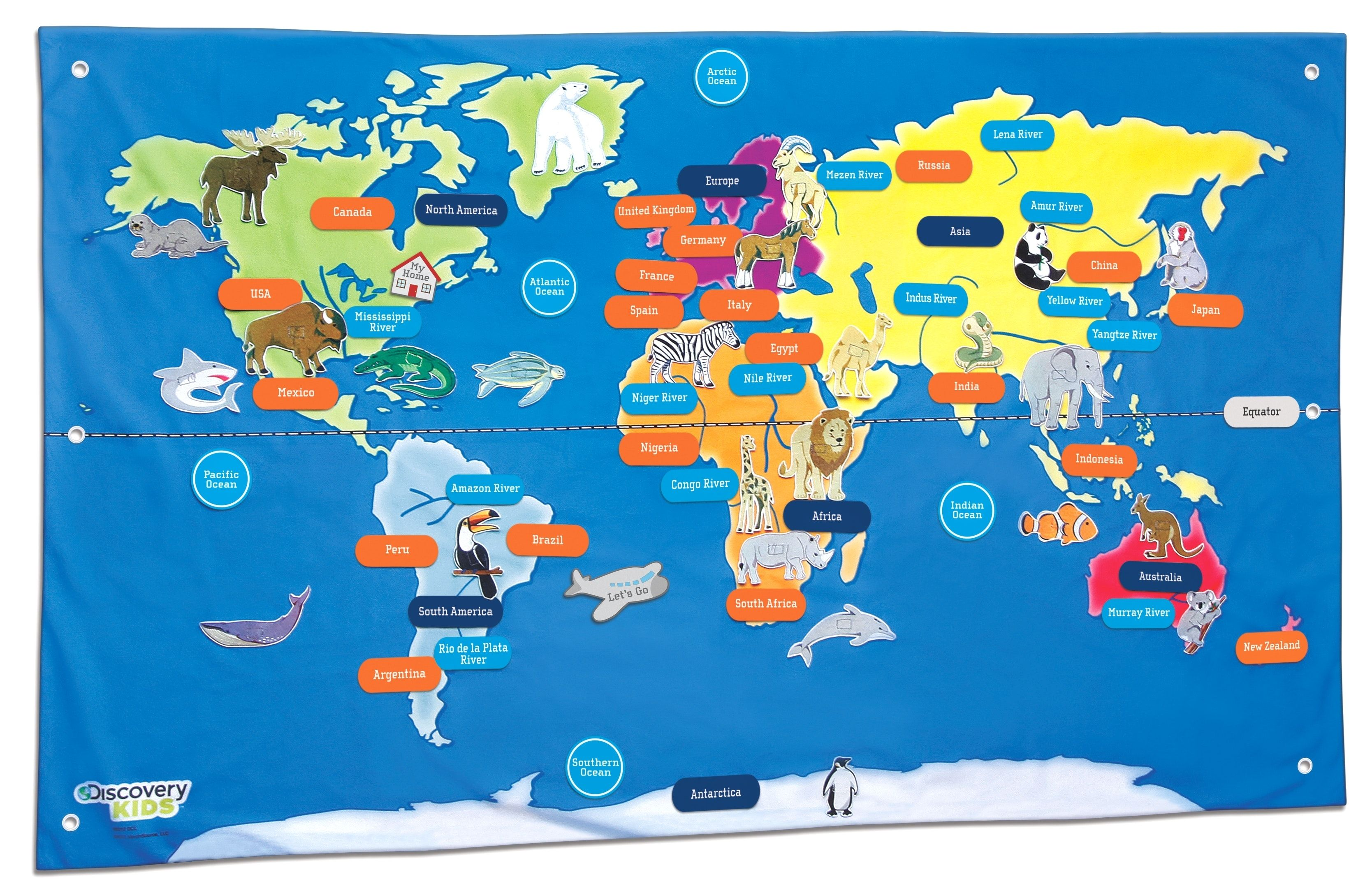 - Printable World Map For Kids New Discovery Kids Toys, Discovery