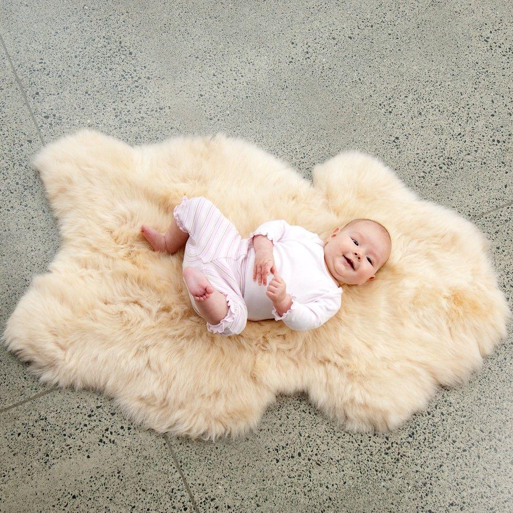 Sheepskin Baby Rug Sheepskin Rug Baby Sleeping Soft Gentle