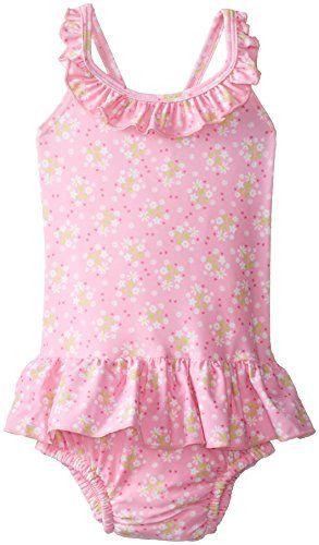e8fc474f03 Baby-Girls Newborn Ultimate Swim Diaper Ruffle Tanksuit-Classic, Pink, 3-6  Months