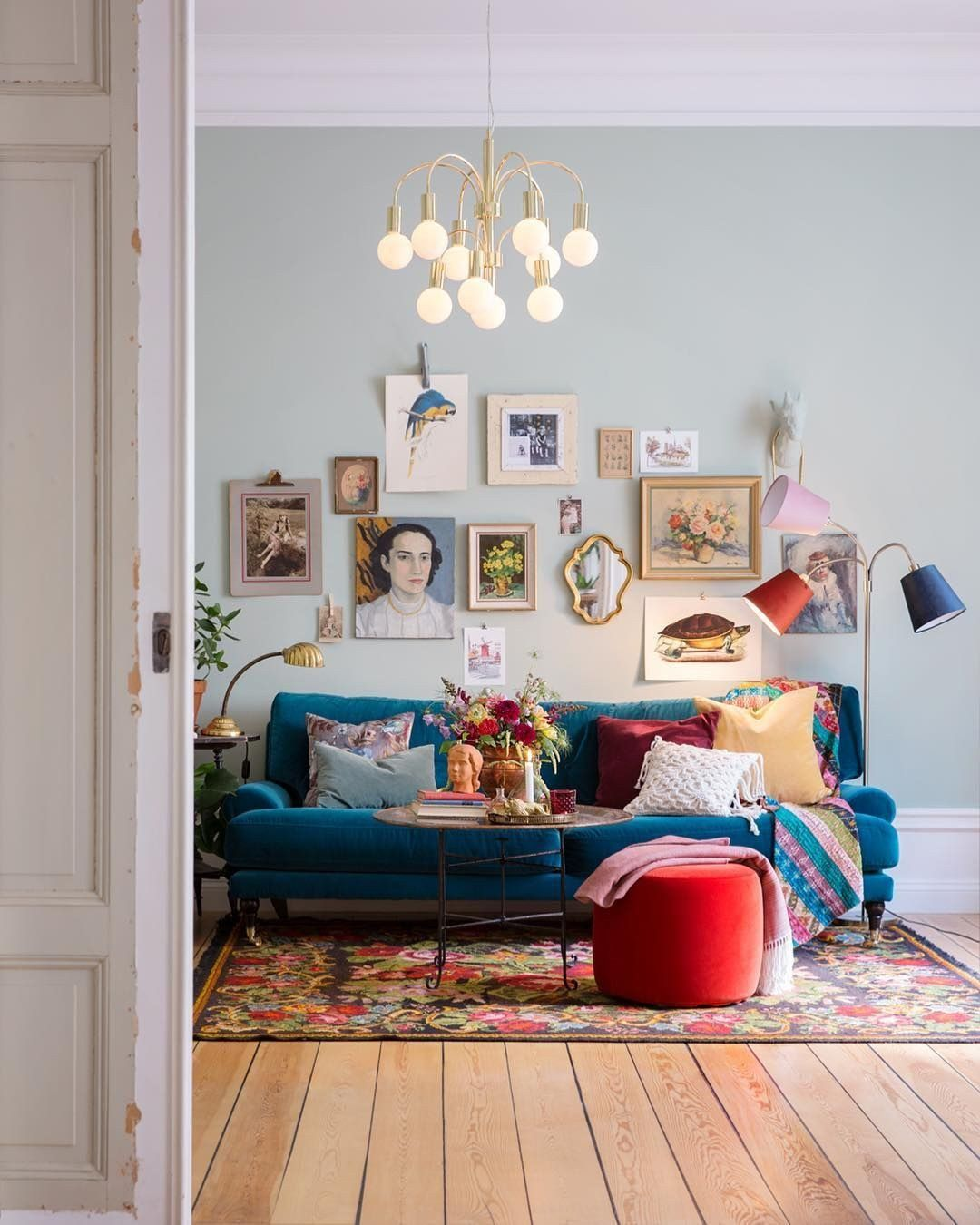 Eclectic Living Room Ideas Awesome Karolinaochanna Karolinaochanna Livingroom Ide Dekorasi Rumah Interior Rumah Dekor #vintage #wall #decor #for #living #room