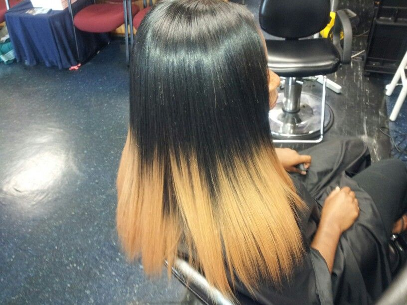 Ombre Sew in Weave in a Color
