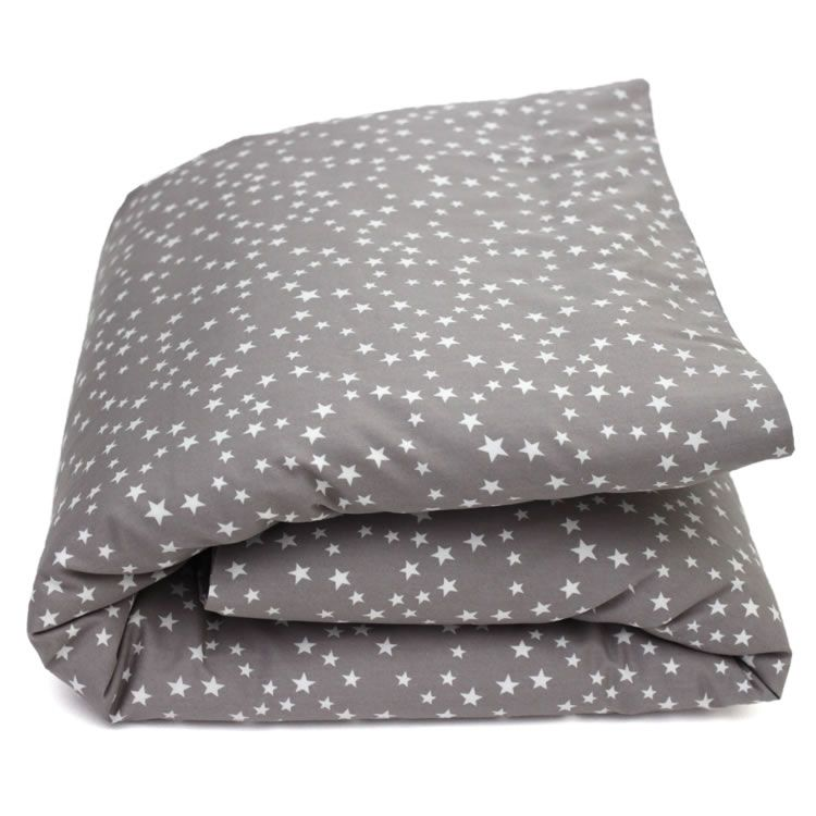 parure de lit pour b b et enfant coton gris taupe et toiles blanc decorating ideas. Black Bedroom Furniture Sets. Home Design Ideas