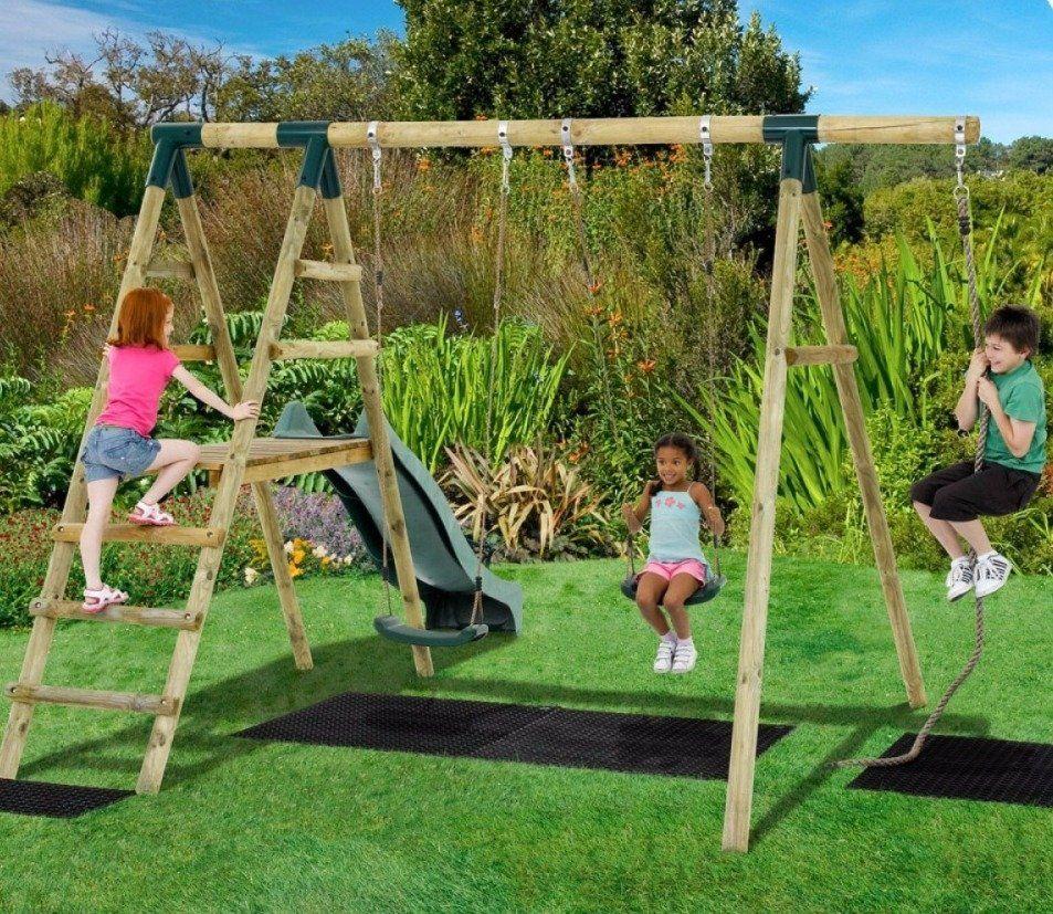 Plum Giant Baboon Swing Set  Wooden garden swing, Garden swing