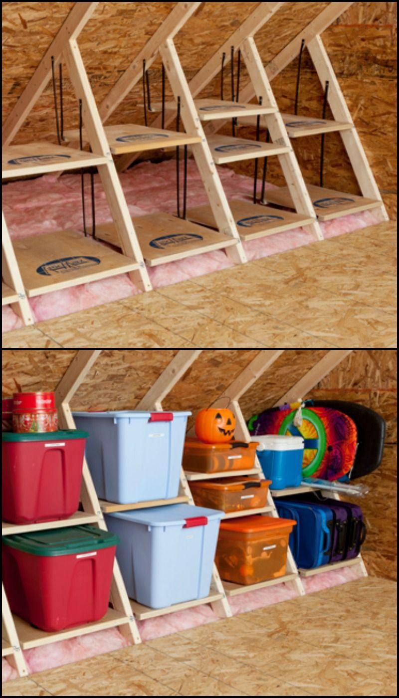 Clever Attic Storage Ideas Tiny House Storage Attic