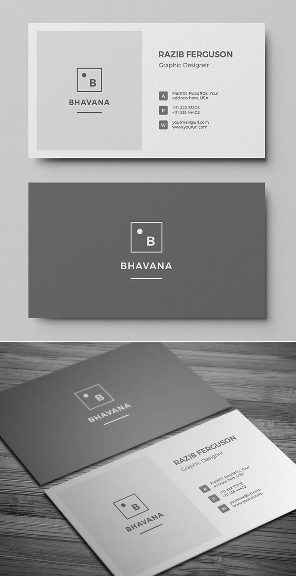 Clean Business Card Design Business Card Design Simple Graphic Design Business Card Personal Business Cards Design