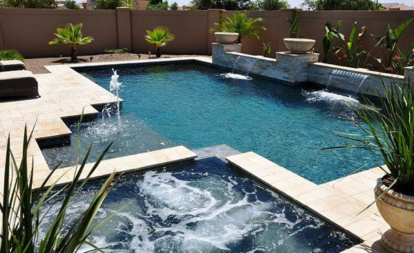 20 Geometric Pool Designs With Corners And Sleek Lines Home Design Lover Pools Backyard Inground Geometric Pool Pool Designs
