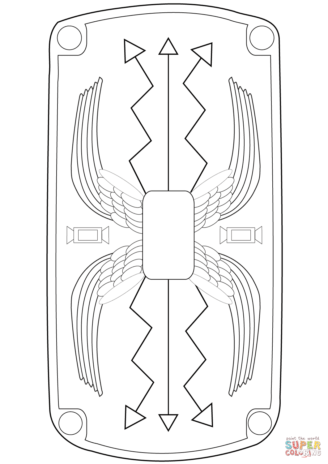 Roman Shield Coloring Page From Ancient Rome And Roman