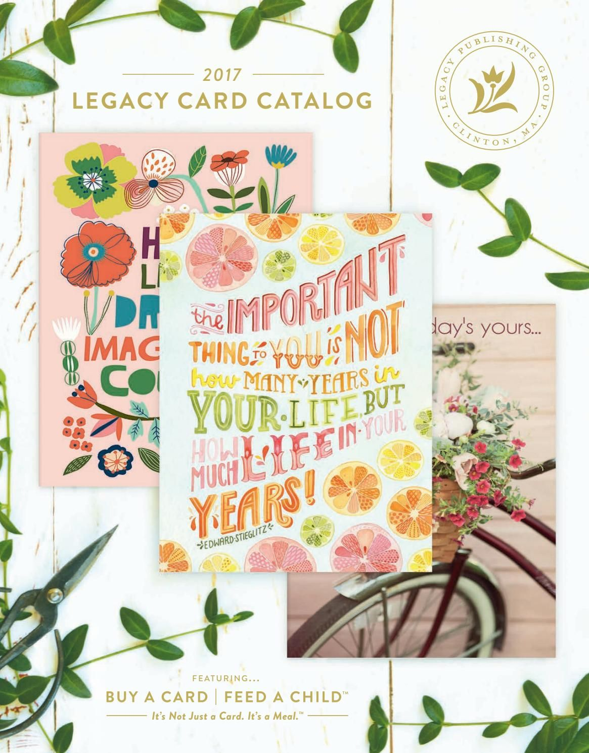 Legacy 2017 Card Catalog Greeting Cards Pinterest